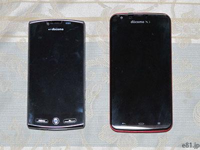 スマートフォンの画像。シャープ「SH-12C」と「SH-06E」