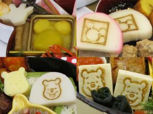 「おせち・ミッキー&フレンズ」 「おせち・くまのプーさん&フレンズ」に入っている、ミッキーやプーさんの顔や形をあしらった食べもの