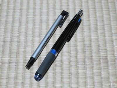 ほぼ日手帳のペン差しに入れているシャープペンシルとペンシル型消しゴム