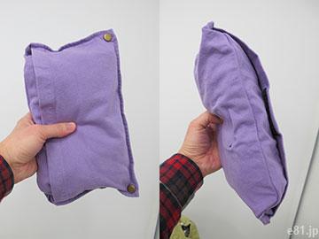 古着屋さんで見つけたような 大きめくたくたトートバッグ」をコンパクトにした状態