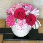 hibiyakadan.comで購入した母の日の贈りもの『アレンジメント「ロゼシャイン」』