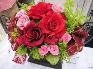 『プリザーブドフラワー「絢爛の薔薇~ダイヤモンドの輝き~」』
