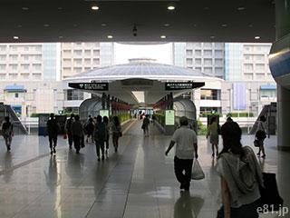 JR・南海の関西空港駅から、エアロプラザへ向かうところ
