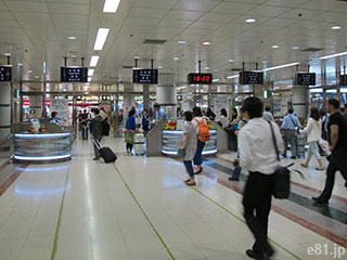 京成電鉄の成田空港駅の改札を出てすぐにある、セキュリティーチェックエリア