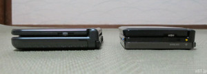 「Newニンテンドー3DS LL」と「ニンテンドー3DS」の厚みを比較