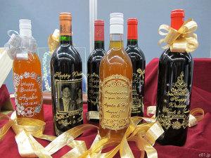 「アトリエココロ」の彫刻ボトル各種