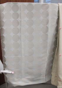 ベルメゾンネットで販売されています「サークル柄の遮光・遮熱・防炎カーテン・2枚」