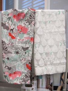 ベルメゾンネットの「遮光カーテン・2枚」と「オパールのボイルカーテン・2枚」
