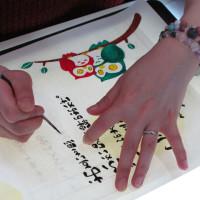 「感謝の筆文字」の制作現場(2)