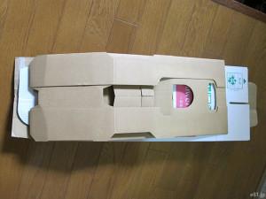 イイハナ・ドットコムの『母の日 鉢植え「カーネーション メモワール」』のパッケージをたたんだところ