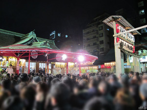 「十日戎」での今宮戎神社の境内