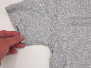 「メンズ汗取りインナーVネック半袖」の表側