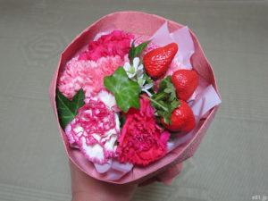 「hibiyakadan.com」で販売しています『母の日 そのまま飾れるブーケ「ストロベリーピンク」』